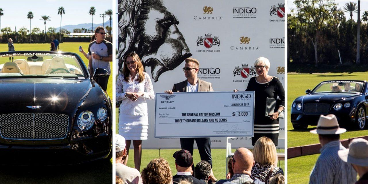 indiGO Auto Group's Bentley Rancho Mirage Donates $3,000 to the General Patton Memorial Museum